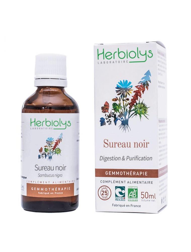 Sureau Noir Macérât de jeunes pousses Bio - Digestion et Purification 50 ml - Herbiolys