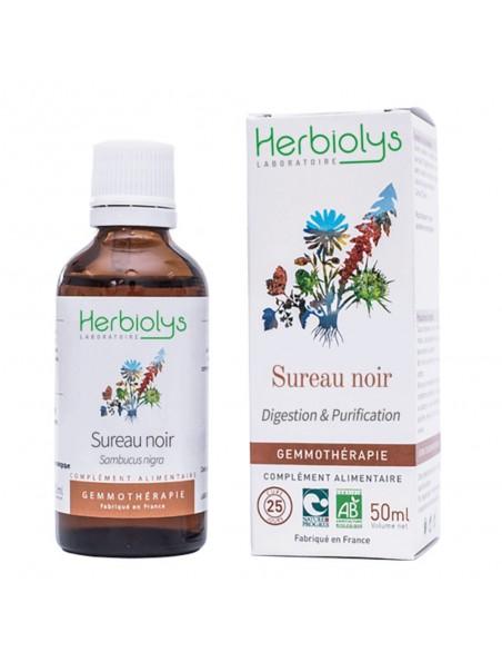 Sureau Noir Macérât de jeunes pousses Bio - Digestion & Purification 50 ml - Herbiolys