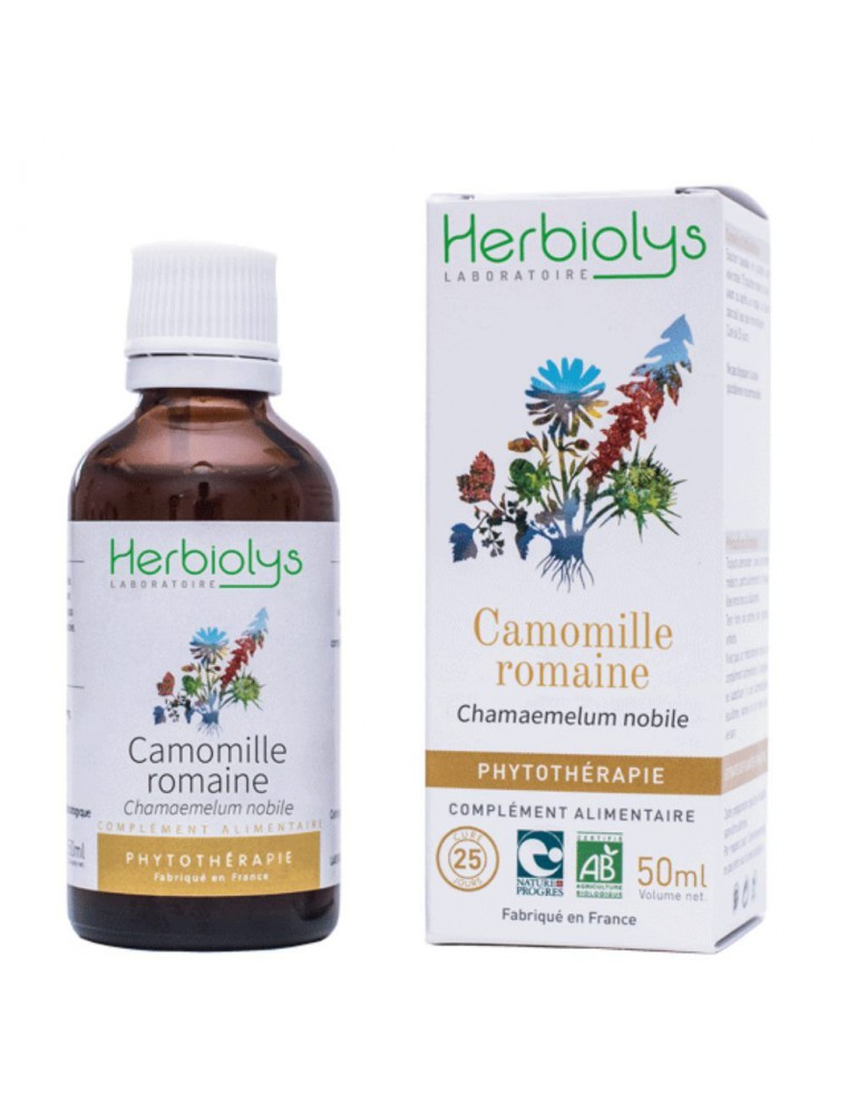 Camomille romaine - Stress et Digestion Teinture-mère Chamaemelum nobile 50 ml - Herbiolys