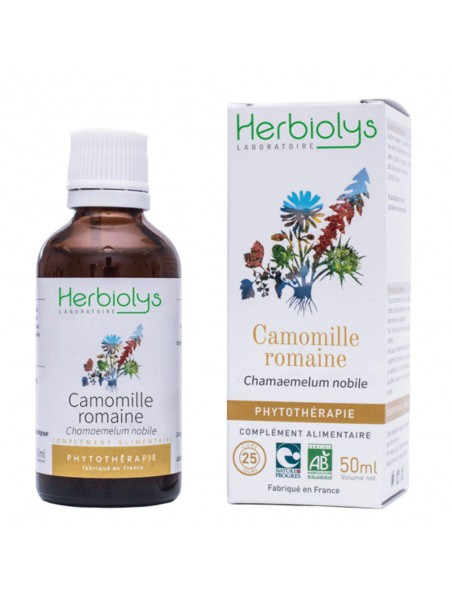 Camomille romaine - Stress & Digestion Teinture-mère Chamaemelum nobile 50 ml - Herbiolys