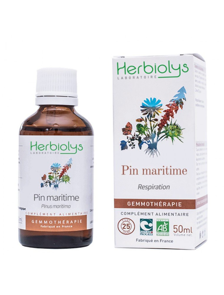 Pin maritime Macérât de bourgeon Bio - Respiration 50 ml - Herbiolys