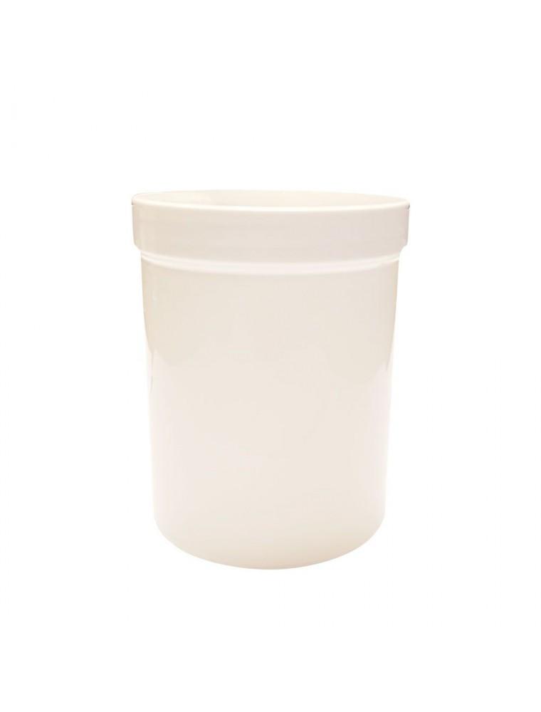 Pot plastique blanc vissant avec couvercle - 250 ml