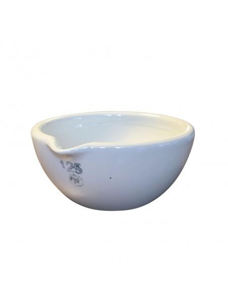Mortier en porcelaine intérieur rodé 400 ml de 125 mm