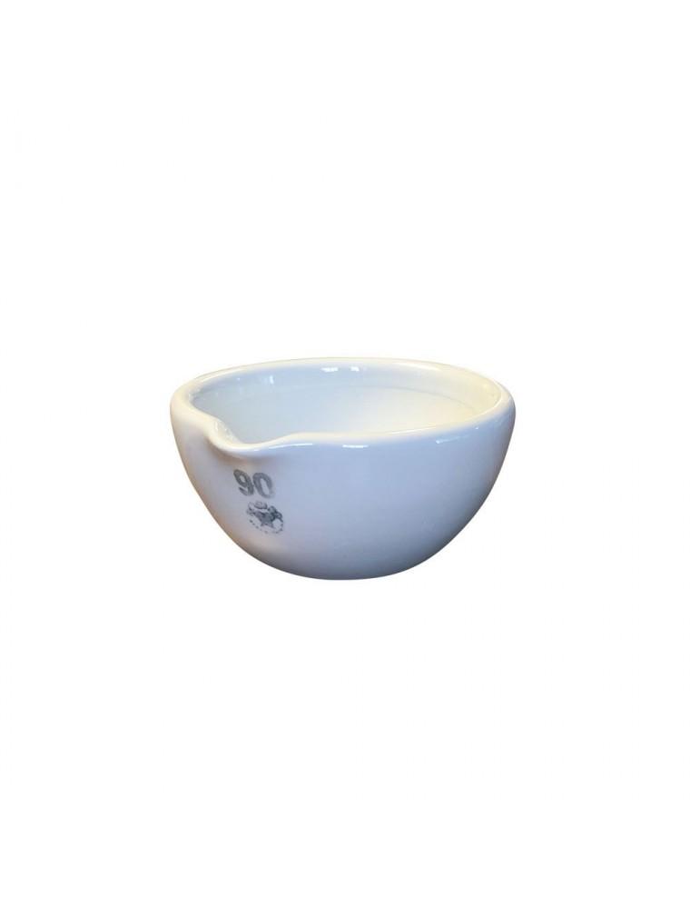 Mortier en porcelaine intérieur rodé 160 ml de 90 mm