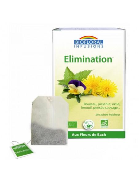 Elimination et drainage de l'organisme - 20 infusettes - Biofloral
