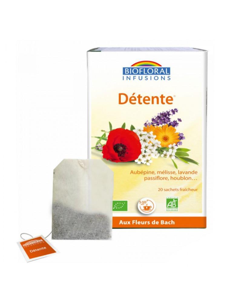 Détente, Sommeil et relaxation - Aux plantes relaxantes 20 infusettes - Biofloral