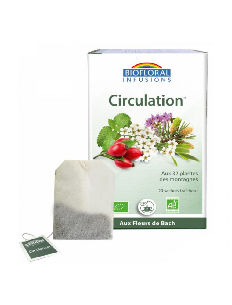 Circulation Bio  Troubles veineux 20 infusettes - Biofloral