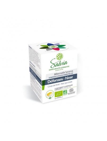 Alternativ'aroma Bio - Défenses Hiver 40 capsules d'huile essentielle - Salvia