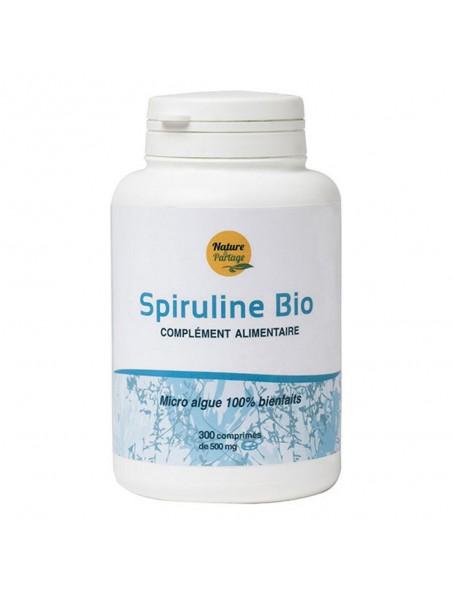 Spiruline Bio - Energie 300 comprimés - Nature & Partage