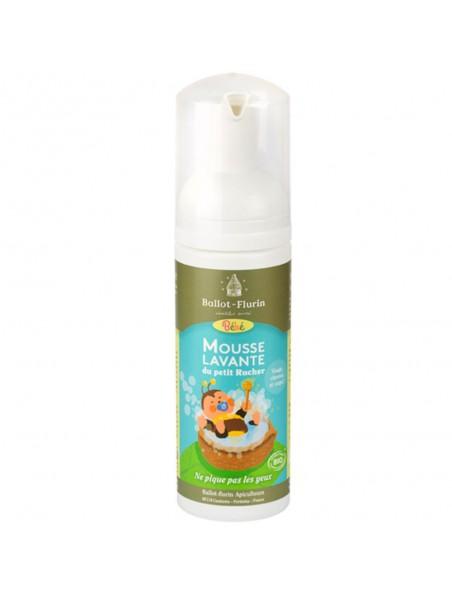 Mousse lavante du petit Rucher Bio - Cheveux, visage et corps des bébés 150 ml - Ballot-Flurin