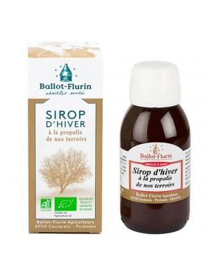 Sirop d'Hiver apaisant Bio 100 ml - Propolis Noire et Miel - Ballot-Flurin