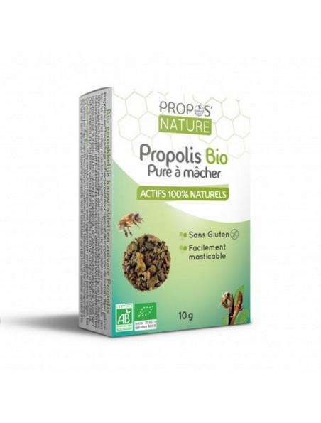Gommes Propolis Pure à mâcher Bio 10 g - Propos Nature