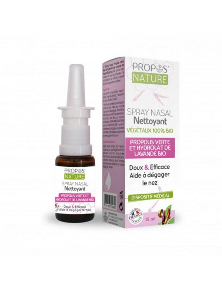 Spray nasal nettoyant Bio - Propolis et  Hydrolat de lavande  15 ml - Propos Nature