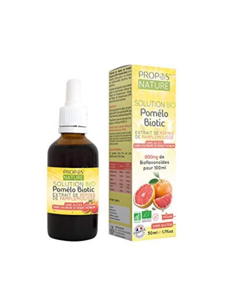 Pomélo Biotic Bio - Extrait de Pépins de Pamplemousse 50 ml - Propos Nature