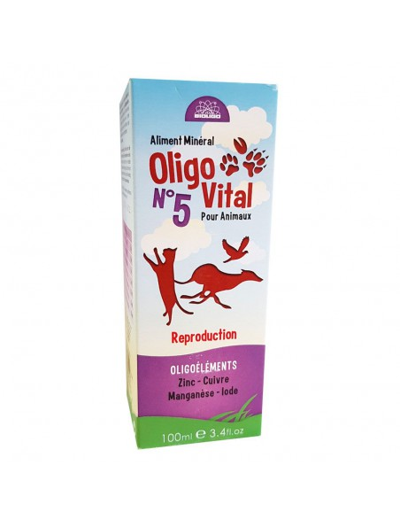 Oligo Vital N°5 - Reproduction des Animaux 100ml - Bioligo