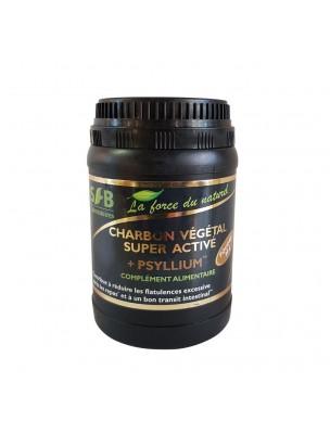Charbon Végétal Super Activé + Psyllium poudre- Gaz intestinaux & Transit 80 g - SFB Laboratoires