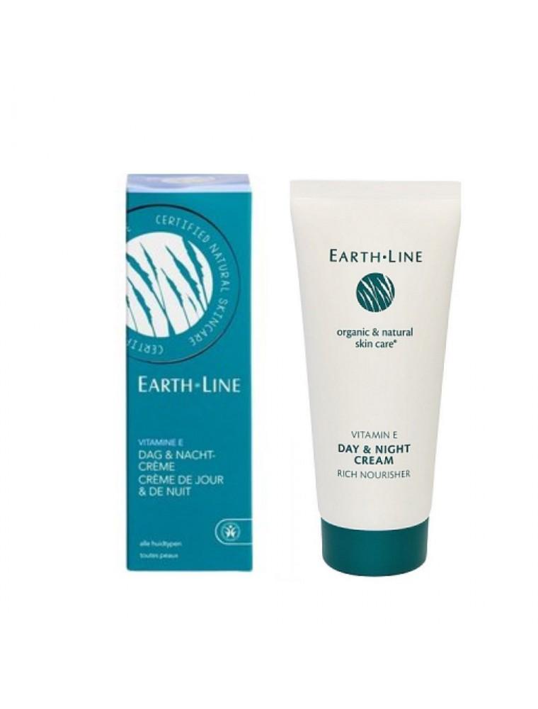 Crème de jour et de nuit à la vitamine E – Soin du visage hydratant 100 ml – Earth Line