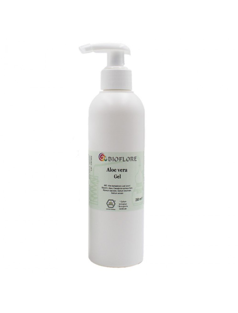 Gel pur d'Aloe vera vivant Bio - Hydratant 250ml - Bioflore