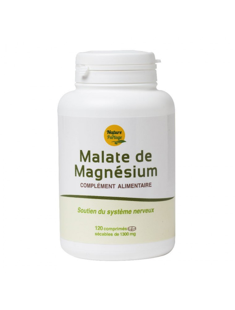 Malate de Magnésium - Energie et Anti-fatigue 120 comprimés - Nature et Partage