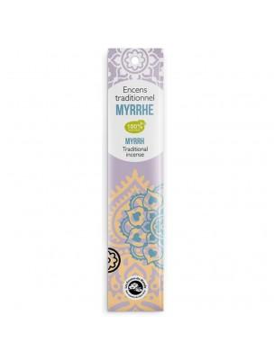 Myrrhe encens indiens - 18 bâtonnets - Les Encens du Monde