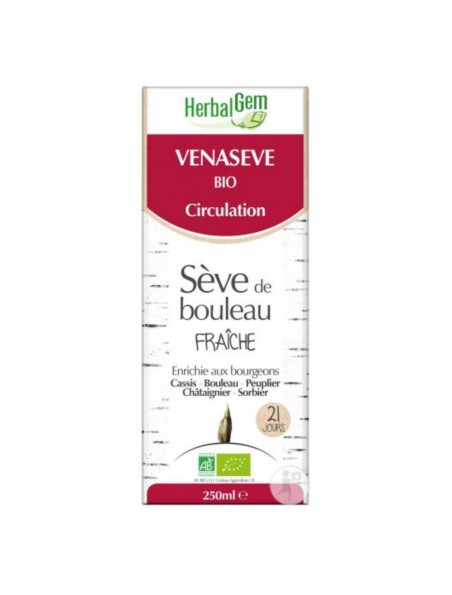 VenaSEVE Bio - Drainage vasculaire en douceur 250 ml - Herbalgem