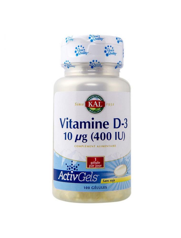 Vitamine D3 - Ossature saine et immunité 100 gélules - KAL