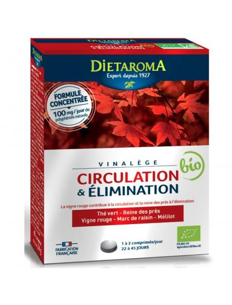 Vinalège Bio - Circulation 45 comprimés - Dietaroma