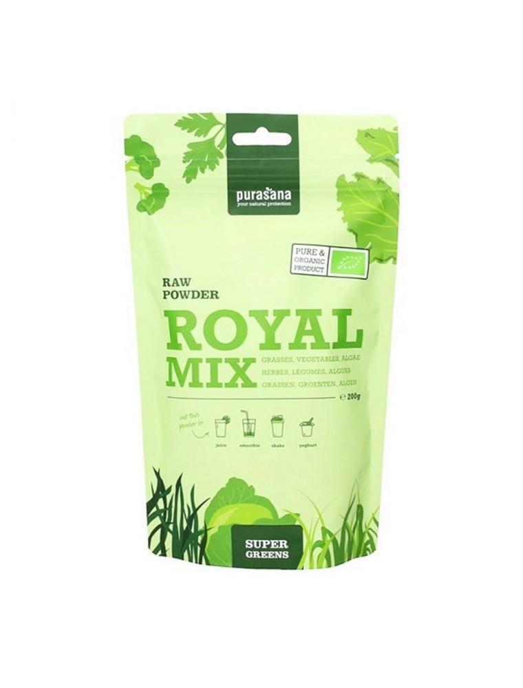 Royal mix Bio - Hygiène de vie saine - SuperGreens 200g - Purasana