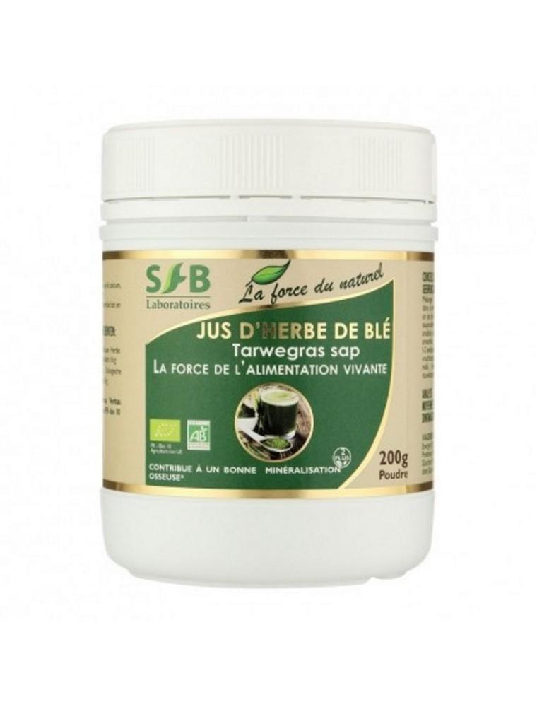 Jus d'herbe de blé Bio - Minéralisation osseuse Poudre 120 grammes - SFB Laboratoires