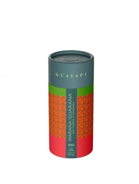 Warana, Guarana d'origine Bio - Tonus et vitalité poudre 65 g - Guayapi