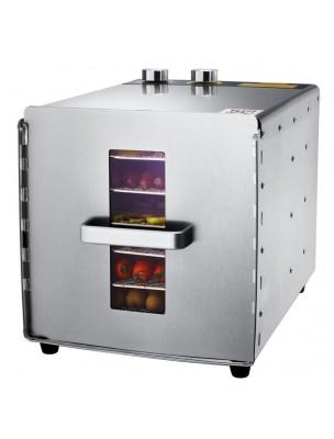 Déshydrateur Inox 500 W 6 grilles 29/29 cm à commande mécanique