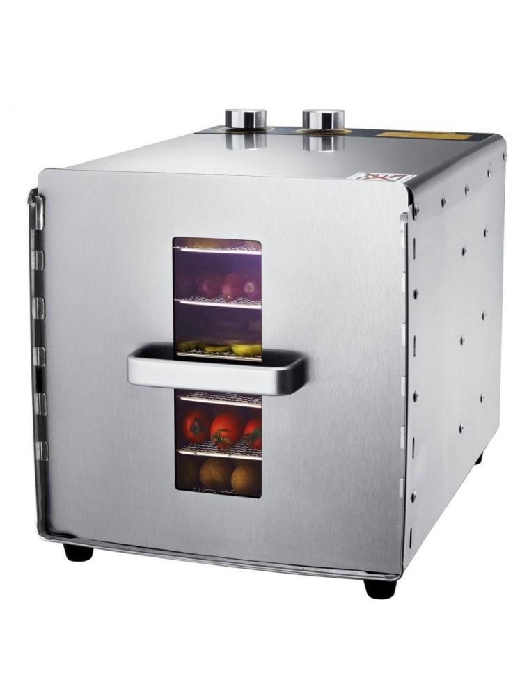 Déshydrateur Inox 500 W 6 grilles 29x29 cm à commande mécanique
