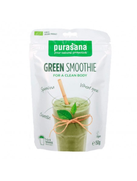 Green Smoothie - Purifie l'organisme Superfoods mixes 150 g - Purasana
