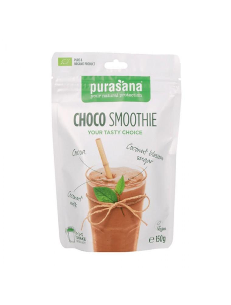 Choco Smoothie - Collation savoureuse Superfoods mixes 150 g - Purasana