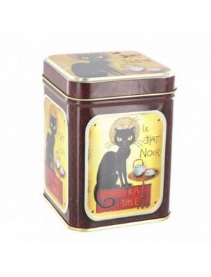 """Boite à thé """"Le Chat Noir""""  pour 100 g de thé"""