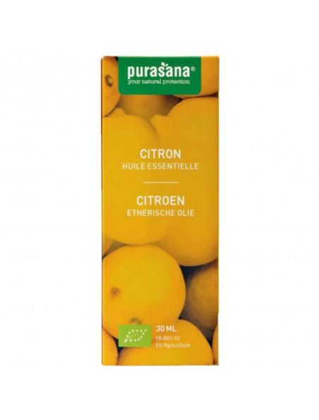 Citron Bio - Huile essentielle de Citrus limon (L.) Burm. f. 30 ml - Purasana