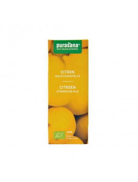 Citron Bio - Huile essentielle de Citrus limon (L.) Burm. f. 10 ml - Purasana