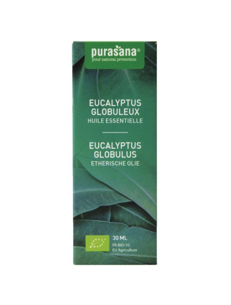 Eucalyptus globuleux Bio - Huile essentielle d'Eucalyptus globulus Labill. 30 ml - Purasana