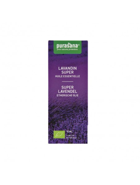 Lavandin super Bio - Huile essentielle de Lavandula hybrida Reverchon 10 ml - Purasana