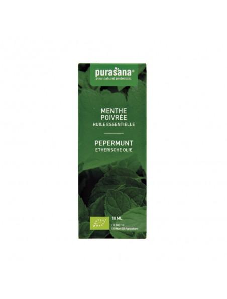 Menthe poivrée Bio - Huile essentielle de Mentha x piperita L. 10 ml - Purasana
