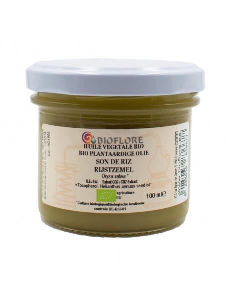 Huile végétale de Son de Riz et Vitamine E Bio - Ingrédient actif anti-âge 100ml - Bioflore