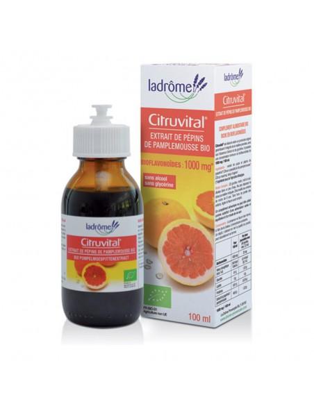 Citruvital Bio - Extrait de pépins de Pamplemousse 100 ml - Ladrôme