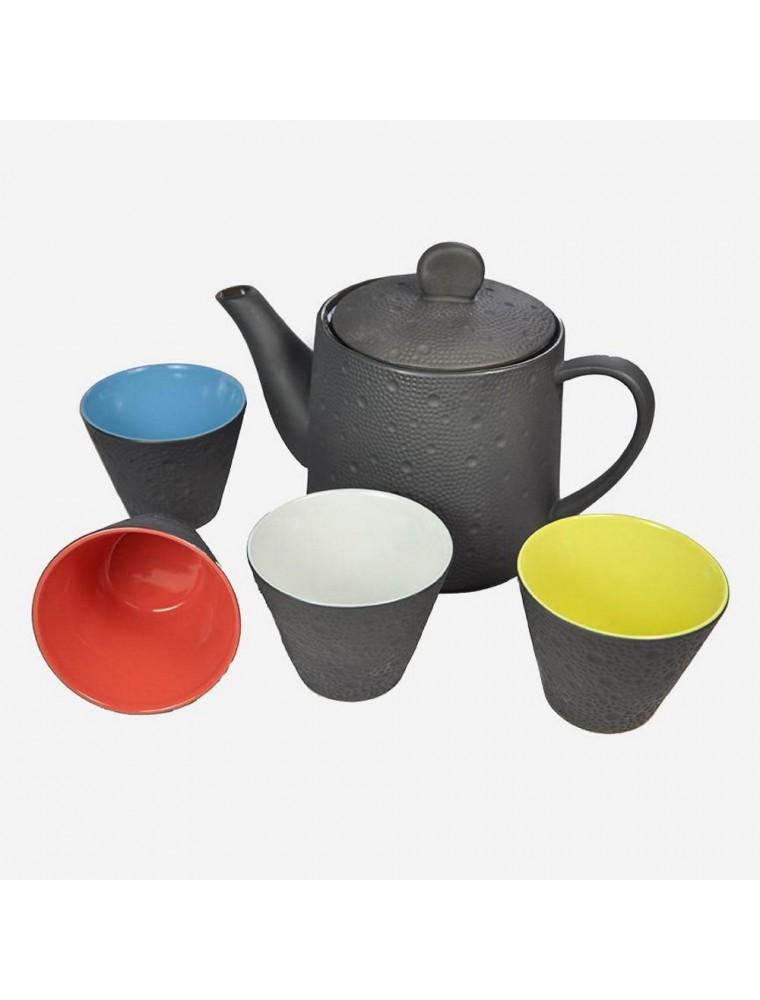 Coffret Tea Set Samira - Théière et 4 tasses en céramique