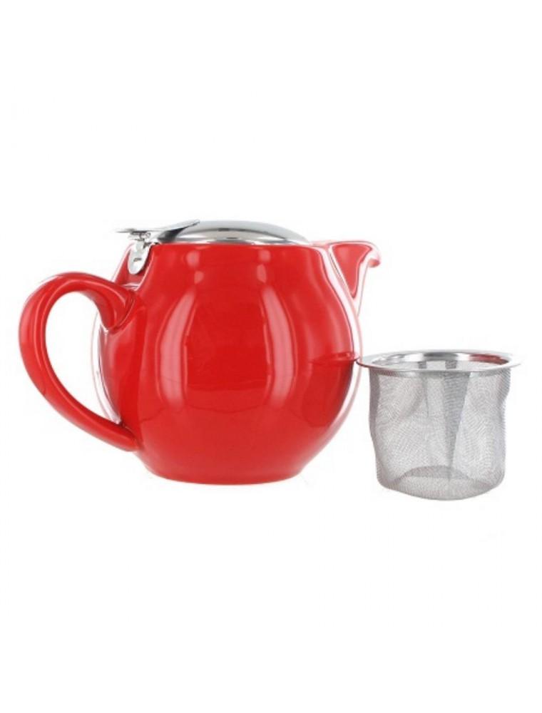 Théière Tokyo Rouge avec filtre et couvercle en Inox 500 ml