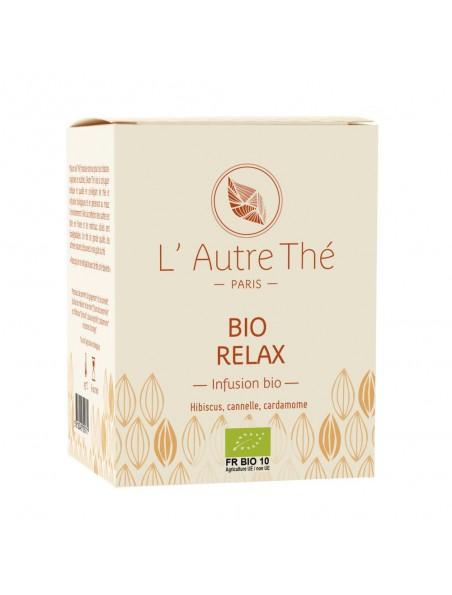 Relax Bio - Hibiscus, cannelle et plantes relaxantes 20 sachets pyramide - L'Autre thé