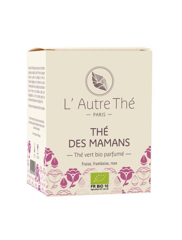 Thé des Mamans Bio - Thé vert à la fraise, framboise et rose 20 sachets pyramide - L'Autre thé