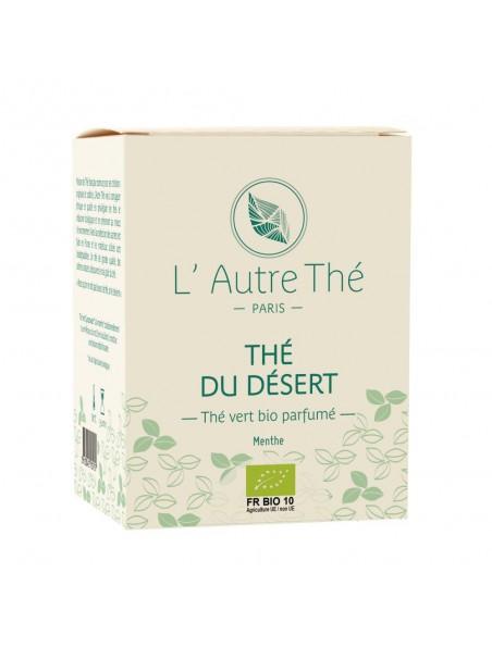 Thé du Désert Bio - Thé vert à la menthe 20 sachets pyramide - L'Autre thé