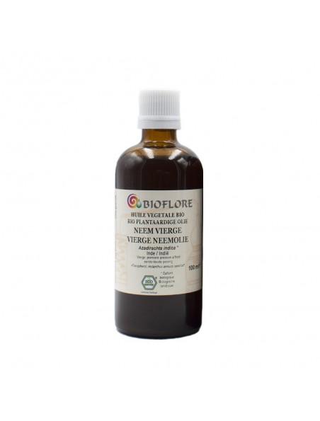 Neem (Margousier) et Vit E Bio - Huile végétale Azadirachta indica 100 ml - Bioflore