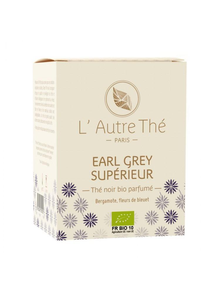 Earl grey supérieur Bio - Thé noir à la bergamote et au bleuet 20 sachets pyramide - L'Autre thé