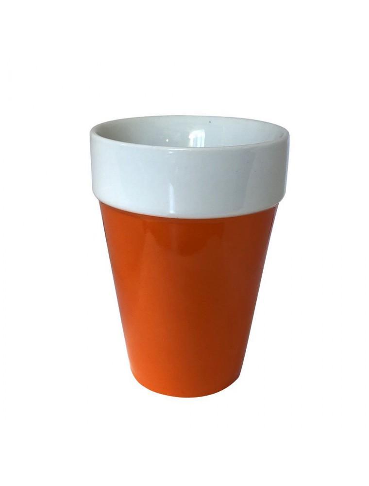 Tasse en céramique orange Qdo 210 ml